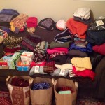 Clothing drive at New wave Coffee
